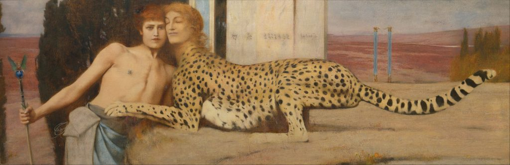 The Sphinx, or, The Caresses. Fernand Khnopff, 1896. Oil on canvas.